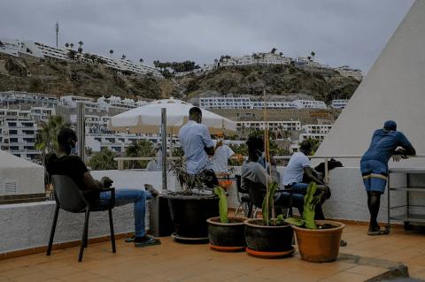 Inmigrantes en hoteles de Gran Canaria / CanariasNoticias.es