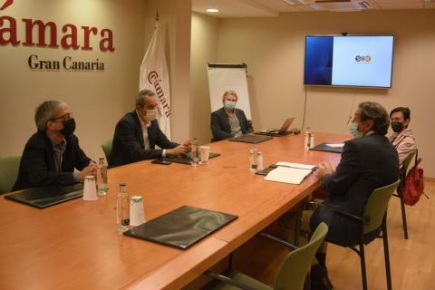 Reunión de Miguel Jorge Blanco en la Cámara de Comercio de Gran Canaria / CanariasNoticias.es