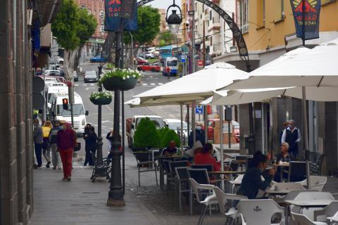 Terrazas en Gáldar (Gran Canaria) / CanariasNoticias.es