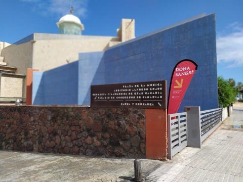 Punto de extracción de sangre en el Auditorio Alfredo Kraus / CanariasNoticias.es