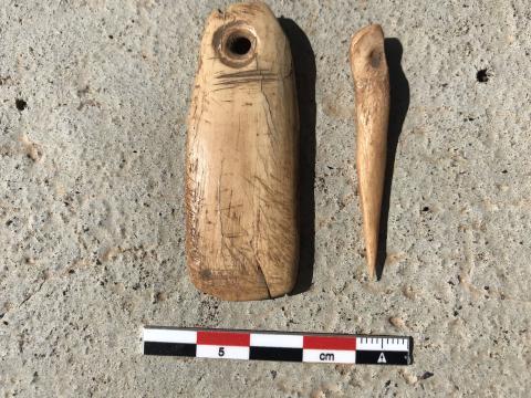 Restos arqueológicos donados de Barranco Seco en Puntallana (La Palma) / CanariasNoticias.es
