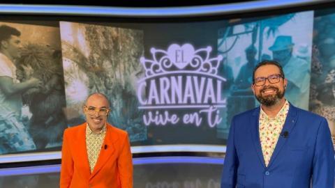 """Alexis Hernández y Kiko Barroso en el programa """"El carnaval vive en ti"""" / CanariasNoticias.es"""
