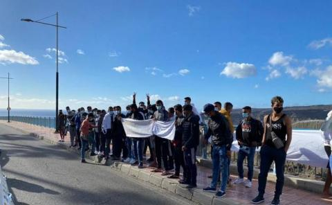 Manifestación de inmigrantes en Puerto Rico/ canariasnoticias