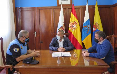 Reunión del alcalde Pedro Rodríguez, César Medina y Antonio Mederos / CanariasNoticias.es