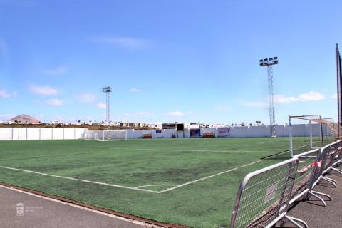 Campo de fútbol de Puerto del Carmen. Tías. Lanzarote/ canariasnoticias