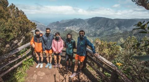 El equipo Salomon Team España en Vallehermoso (La Gomera) / CanariasNoticias.es