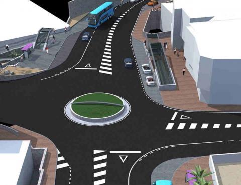 Infografía del proyecto de reordenación de la entrada a Arguineguín en Mogán / CanariasNoticias.es