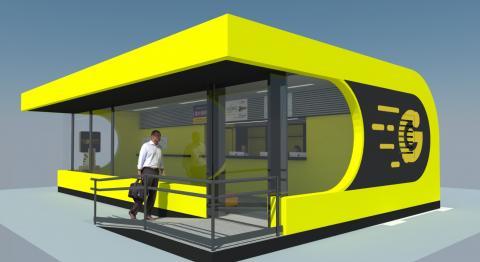 Infografía de la renovación de la oficina de atención al público del parque Santa Catalina / CanariasNoticias.es