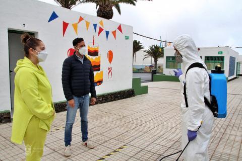 Puesta a punto de los colegios de Tías (Lanzarote) / CanariasNoticias.es