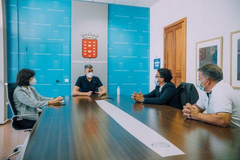 Reunión del consejero de Deportes del Cabildo de Lanzarote / CanariasNoticias.es