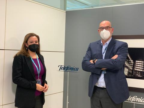 Reunión de Mª Dolores Corujo con CEO de Telefónica en Madrid / CanariasNoticias.es