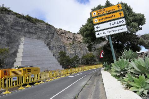Talud en la carretera HI-2 / CanariasNoticias.es