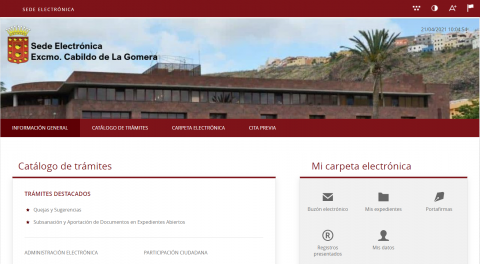 Sede Electrónica del Cabildo de La Gomera / CanariasNoticias.es
