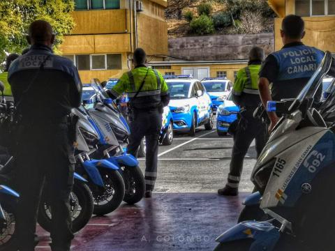 Policías locales de Las Palmas de Gran Canaria