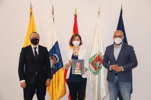 Sabrina Vega en las Casas Consistoriales de Las Palmas de Gran Canaria / CanariasNoticias.es