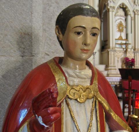 Escultura de San Blas de Iglesia de San Vicente Ferrer de Valleseco / CanariasNoticias.es