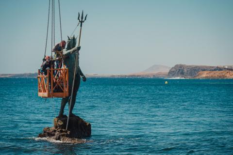 Telde repara y fortalece el brazo del 'Neptuno' / CanariasNoticias.es