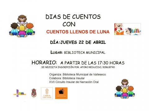 """Sesión de cuentos """"Cuentos llenos de Luna"""" de Valleseco (Gran Canaria) / CanariasNoticias.es"""