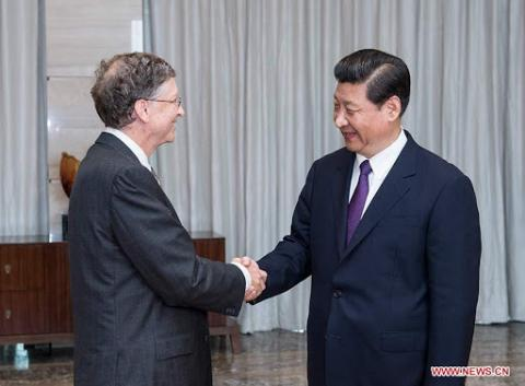 Bill Gates y Xi Jing Ping