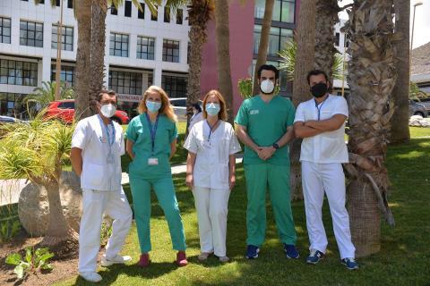 El equipo de vacunación del Insular-Materno Infantil premiado