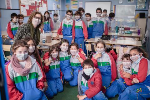 Mascarillas inclusivas en el Colegio Nuryana de La Laguna (Tenerife) / CanariasNoticias.es