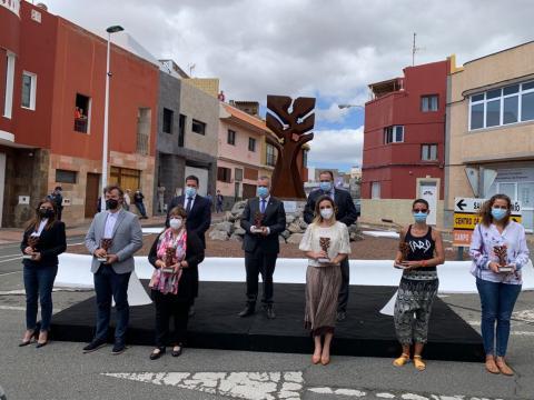 Acto de homenaje a los sanitarios en la lucha contra Covid-19 en Telde / CanariasNoticias.es