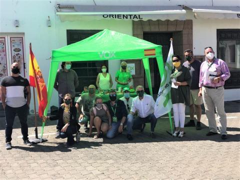 Mesa de VOX. Yaiza. Lanzarote/ canariasnoticias