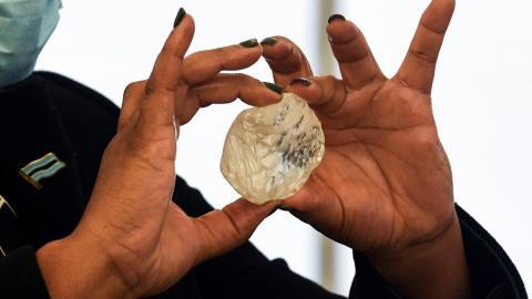 Diamante en Gaborone, Botsuana