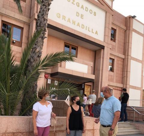 Rosa Dávila y José Domingo Regalado exigen un nuevo Palacio de Justicia en Granadilla de Abona / CanariasNoticias.es