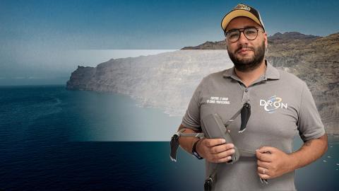 Jonathan García, experto en el manejo de drones / CanariasNoticias.es