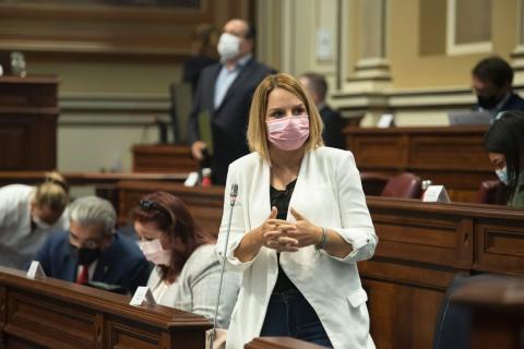 Noemí Santana en el Parlamento de Canarias / CanariasNoticias.es