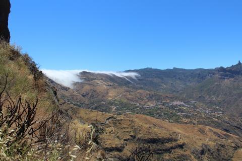 Paisaje desde la cueva de Candiles en Artenara (Gran Canaria)