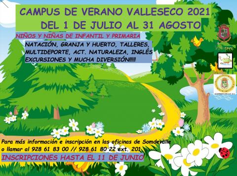 Inscripciones abiertas para el Campus de Verano de Valleseco 2021 / CanariasNoticias.es