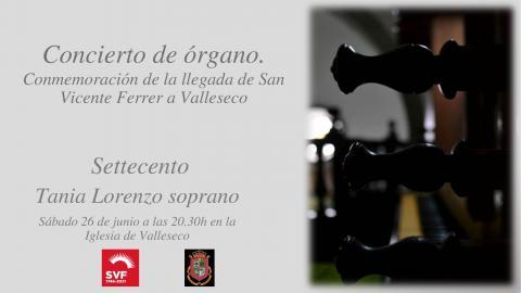 Cartel del concierto de órgano en la iglesia de Valleseco / CanariasNoticias.es