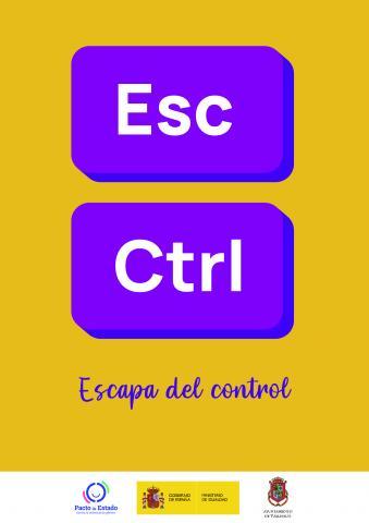 """Campaña """"Escapa del control"""" del Ayuntamiento de Valleseco"""