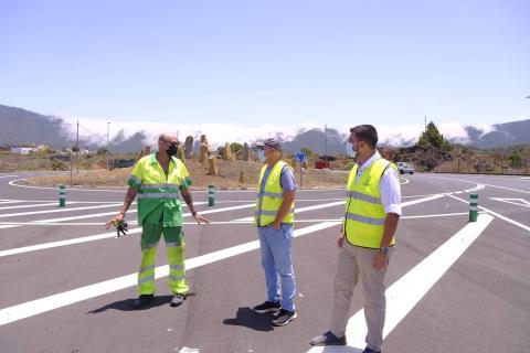 Rotonda de Padrón de la carretera LP-3, en El Paso (la Palma) / CanariasNoticias.es