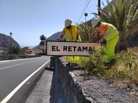 Renovación de la señalética de las carreteras de La Gomera / CanariasNoticias.es