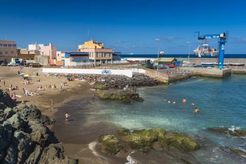 Playa de La Puntilla en San Cristóbal en Las Palmas de Gran Canaria