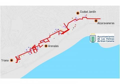 """""""Gran vía peatonal"""" de Las Palmas de Gran Canaria / CanariasNoticias.es"""