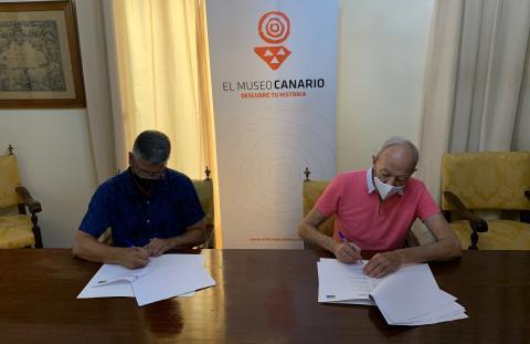 Firma del Convenio de Colaboración entre El Museo Canario y Promuscan / CanariasNoticias.es