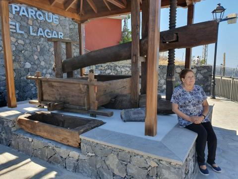 Doña Antonia Rodríguez en el Parque El Lagar de Tijarafe / CanariasNoticias.es