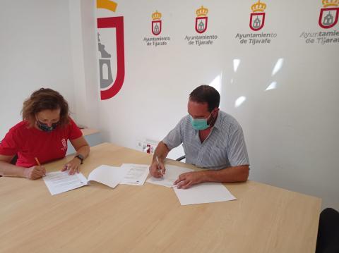 Firma de convenio de colaboración con la Asociación de Voluntarios Medioambientales