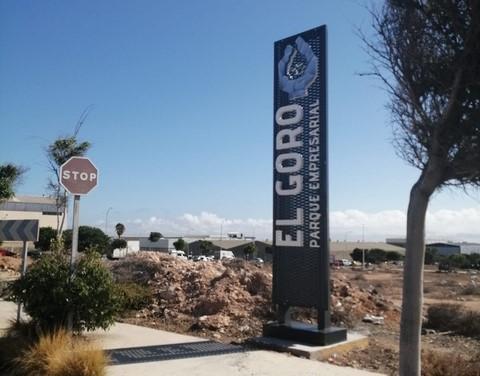 Señalética del Parque Empresarial El Goro en Telde / CanariasNoticias.es
