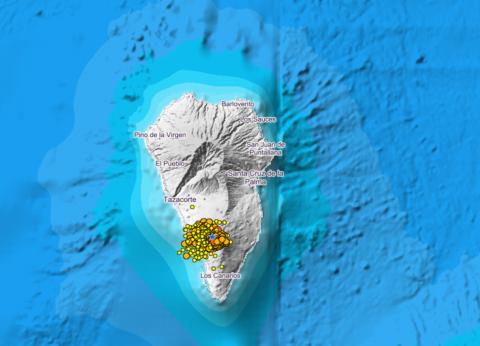 Actividad sísmica en La Palma