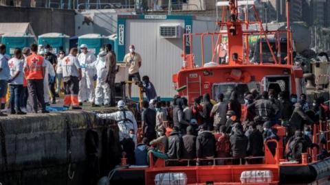 Inmigrantes en Arguineguín. Gran Canaria/ canariasnoticias