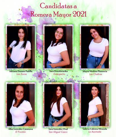 Candidatas a Romera Mayor de las Fiestas Patronales de San Miguel de Abona