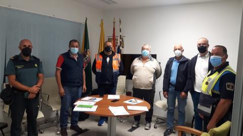 Reunión de seguridad y emergencia de las fiestas de La Encarnación en Valleseco