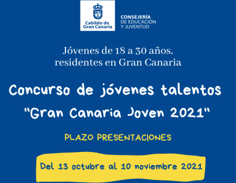 """Concurso de talentos """"Gran Canaria Joven 2021"""""""