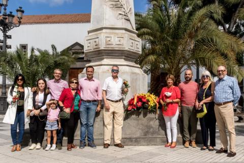Ofrenda Floral a Colón 2021 en Las Palmas de Gran Canaria/ canariasnoticias