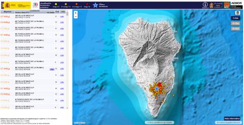 Enjambre sísmico en La Palma/ canariasnoticias